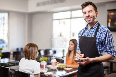 man working as a waiter