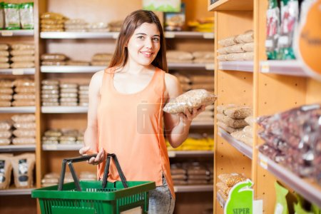 girl Buying some grains