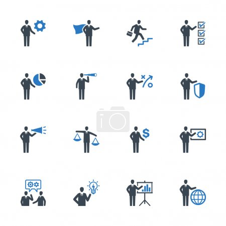Business Management Icons Set 2 - Blue Series