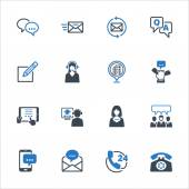 Contact Us Icons Set 5 - Blue Series