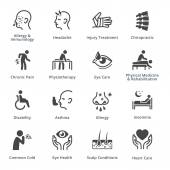 Health Conditions & Diseases Icons - Black Series