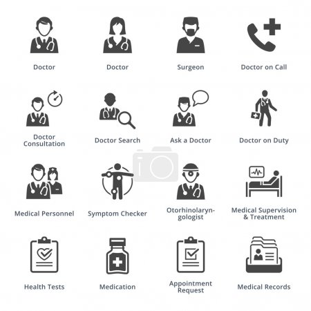 This set contains medical services icons that can ...
