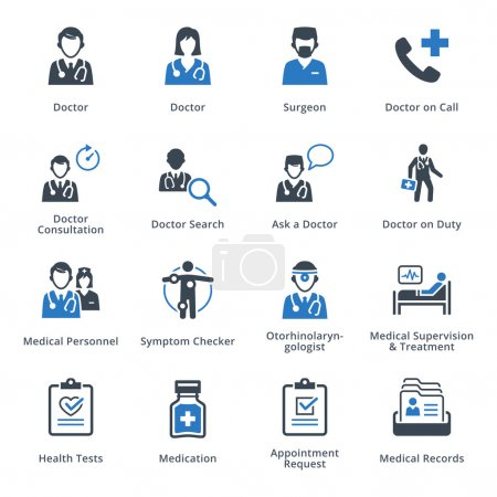 Medical Services Icons Set 3 - Blue Series