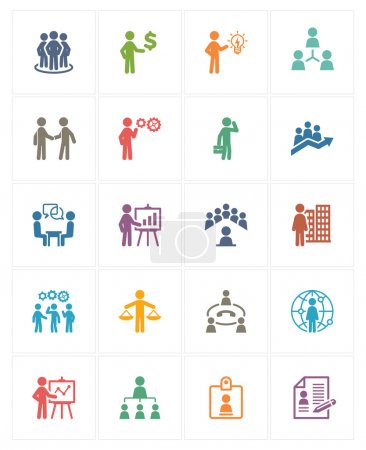 Business Management Icons - Colored Series