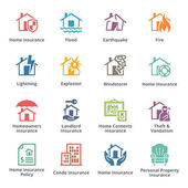 Home Insurance Icons - Colored Series