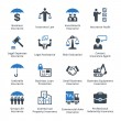 This set contains business insurance icons that ca...