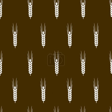 pattern with ears of wheat
