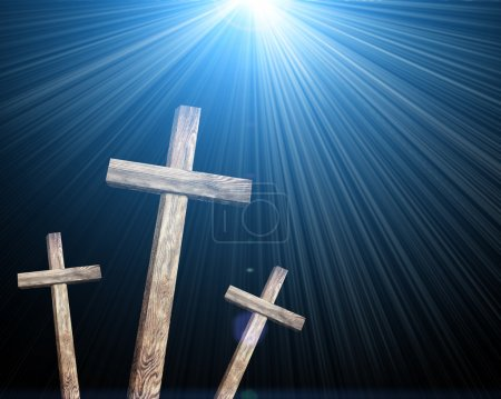 Old wooden crosses