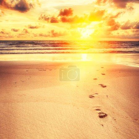 sunrise in the sea coast