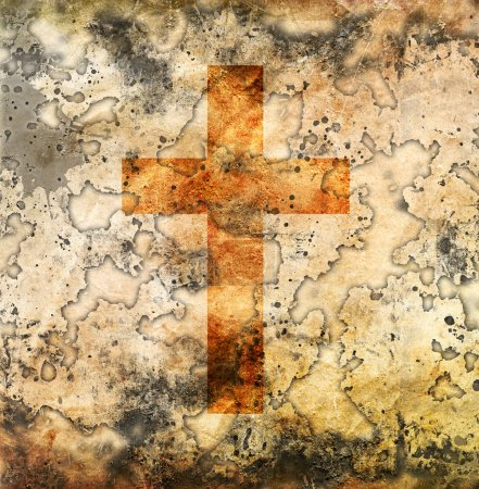 Photo for Cross on abstract grunge background - Royalty Free Image