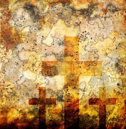 Photo pour Croix sur fond abstrait grunge - image libre de droit