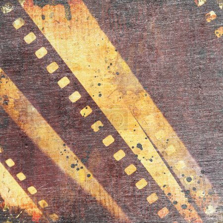 abstract grunge background with film stripe