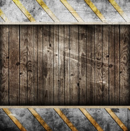Background with wooden frame