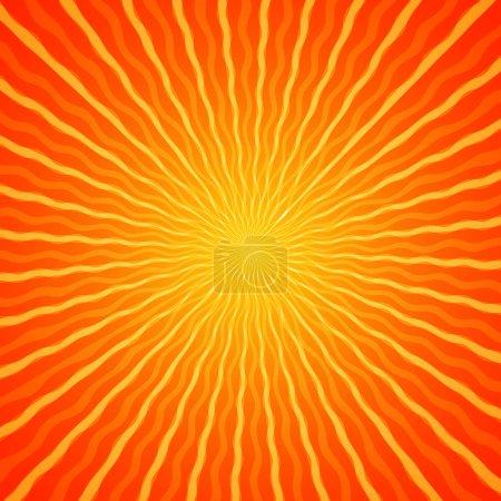 Photo pour Soleil rafale orange dégradé fond - image libre de droit