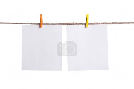 Two White blank notes