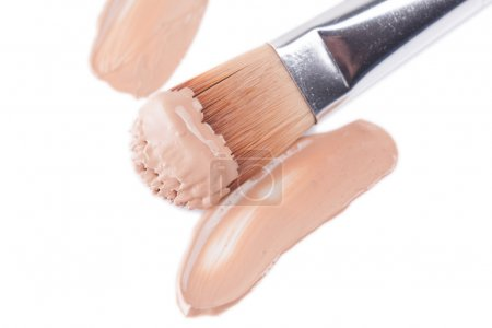 Close-up of makeup concealer brush