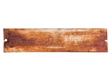 Photo pour Cadre ancien en métal sur fond blanc - image libre de droit