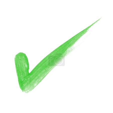 Photo for Check Marks painted with a brush with clipping patch - Royalty Free Image