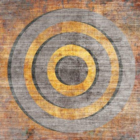 Orange grunge target