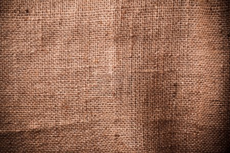 Photo for Brown natural linen texture close-up - Royalty Free Image
