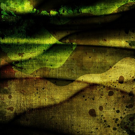 Foto de Primer plano de fondo de grunge militar brillante con manchas - Imagen libre de derechos