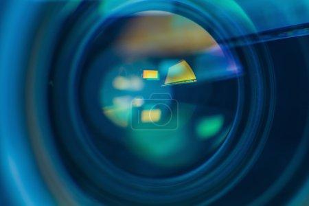 Photo pour Aberration chromatique dans l'objectif gros plan - image libre de droit