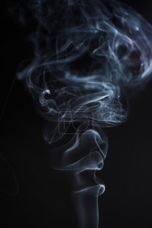 White abstract smoke