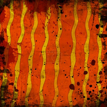 orange  color lines with black spots