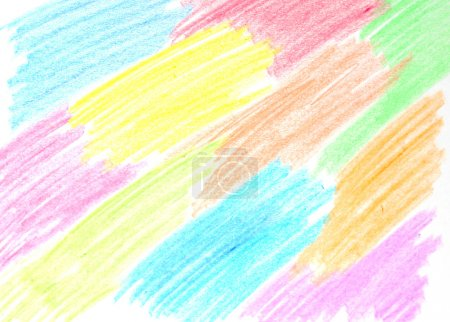 Oil pastel crayon's abstract picture