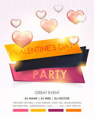 Valentines Day Party Poster Flyer