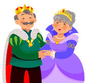 Elderly king and queen