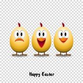 Happy easter card with chicks