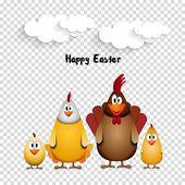 cartoon chicken family