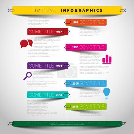 Timeline infographics, presentation template