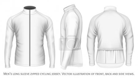 Long sleeve cycling jersey for men.