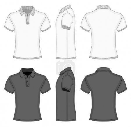 Mens  polo shirt and t-shirt design templates