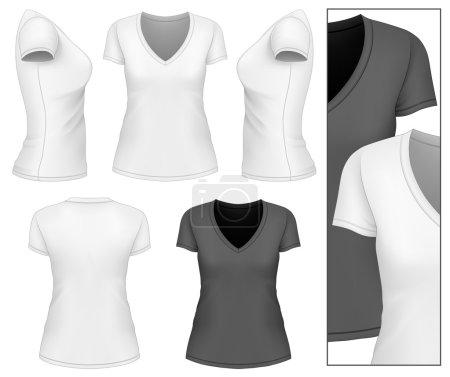 Womens v-neck t-shirt.