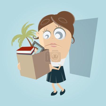 Illustration pour Triste employée a perdu son emploi - image libre de droit