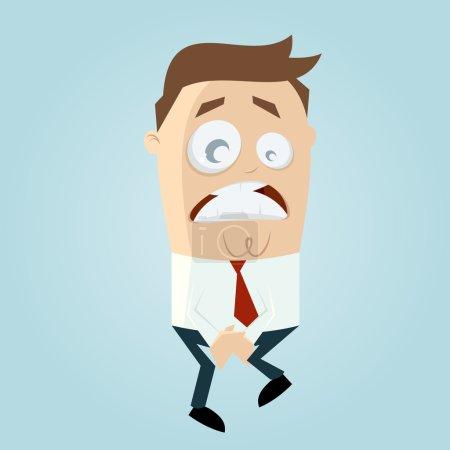 Businessman has to pee very urgently...