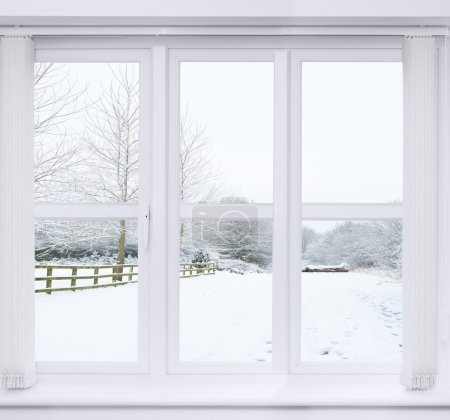 Snow Scene Window
