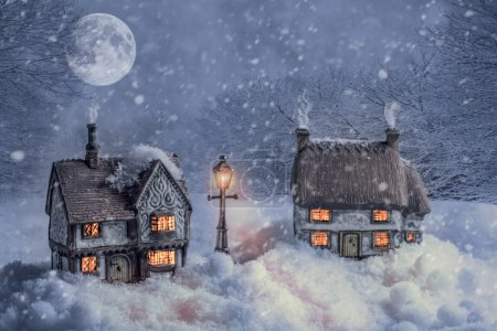 Winter Cottages In Snow