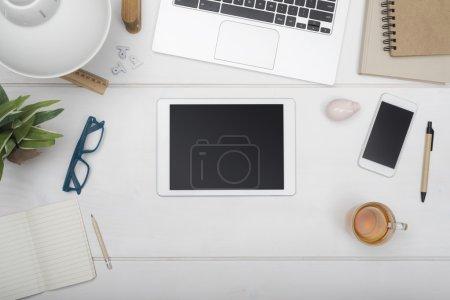 Office tablet hero header