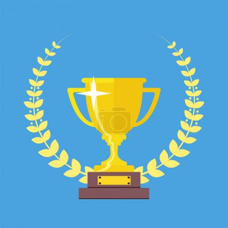Champions Cup icon vector. Trophy icon. Trophy cup...