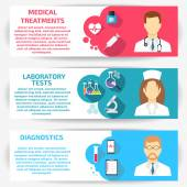 Doctor banners with icons vector illustration