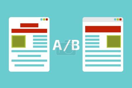 Illustration for A-B comparison. Split testing. Concept  vector illustration - Royalty Free Image