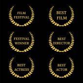 Film Awards on black