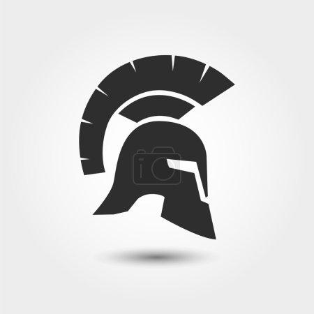 Silhouette of Roman helmet