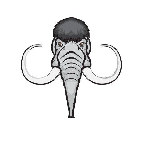 Mammoth head icon.
