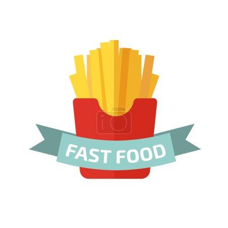 Illustration pour Logo frites sur fond blanc - image libre de droit