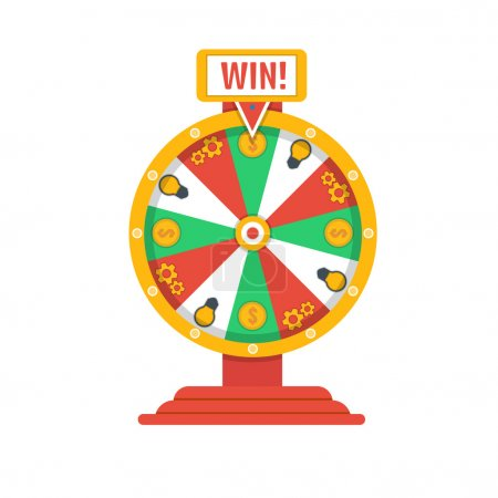 Illustration for Wheel of fortune icon Vector illustration - Royalty Free Image